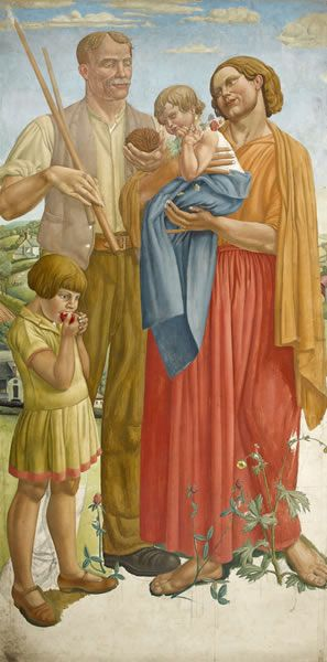 Colour Study for the Central Group of Allegory, c. 1929 -