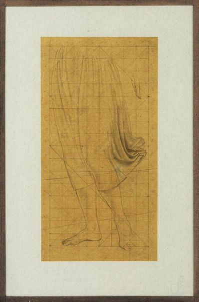 Study for St Martin altarpiece, angel from the waist down  -