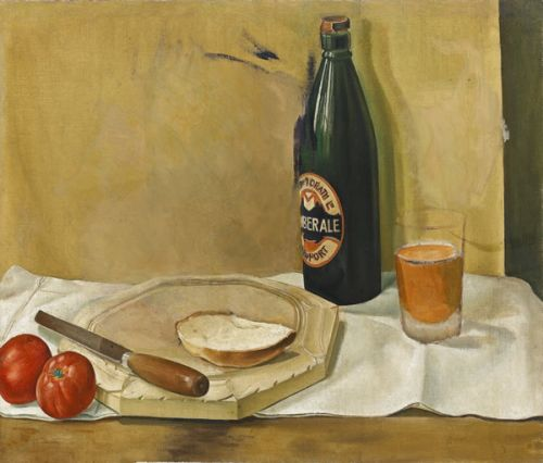Still life with bottle of Ale, circa 1925 -