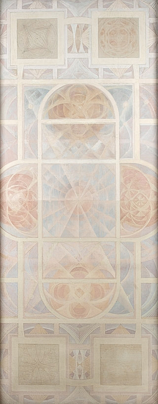 Design for Bristol Council House ceiling, circa 1953 -