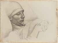 Artist Arnold Mason: Portrait of Winifred Knights Sleeping, circa 1920