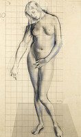 Artist Reginald Brill: Eve, Study for The Expulsion, 1927