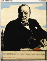 Artist Robert Austin: Our Heritage:Winston Churchill, 1943