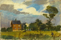Artist Alan Sorrell: The Artists House and Studio, Thors Mead, Essex, circa 1947