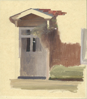 Artist Winifred Knights: The Front Door of Line Holt Farm House, late 1920s
