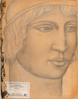 Artist Stanley Lewis: Grecian Profile - drawn on the cover of a Charcoal Sketch Book
