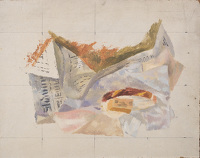 Artist Reginald Brill: Unfinished study for the Breakfast Table