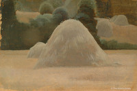 Artist Winifred Knights: Study of a haystack