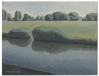Artist Winifred Knights: Landscape at Roydon, Essex
