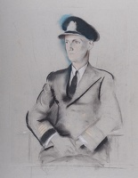 Artist Alfred Kingsley Lawrence: Portrait of a Naval Officer