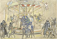 Artist Stanley Lewis: The Fun Fair at Newport, circa 1925