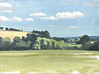 Artist Sir Thomas Monnington: Suffolk Landscape, late 1930s