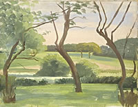 Artist Sir Thomas Monnington: Landscape around Leyswood, late 1940s