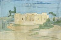 Artist Alfred Kingsley Lawrence: The British School at Rome, circa 1923